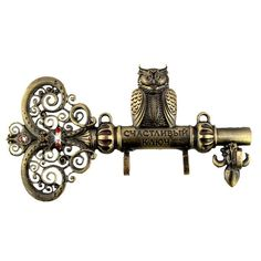 Screw Fixation,Wall Door Hook Hanger.Living Room & Kitchen Vintage Hook Owl