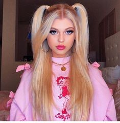Loren gray - Make Up 2019 Pigtail Hairstyles, Pretty Hairstyles, Girl Hairstyles, Loren Grau, Hair Inspo, Hair Inspiration, Hair Looks, Curly Hair Styles, Hair Makeup