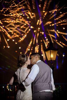 Cap off your Disney's Fairy Tale Wedding with magical fireworks. Photo: Stephanie, Disney Fine Art Photography