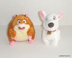 "Disney Store Bolt Dog Plush Set Lot 6"" Rhino Hamster #disney #toys"