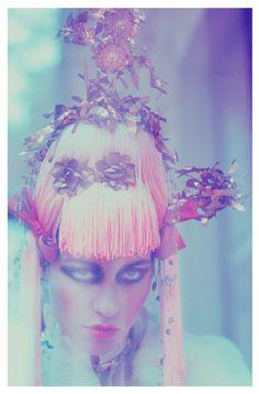"Title: ""Princess of the Fallen Garden"" Photographer: Suzana Holtgrave Stylist: Jale Kustaloglu of Basics Berlin Hair/Makeup: Anna Obendiek of Basics Berlin Model: Monika Hirzin"