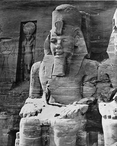 An Old photo of Abu Simbel Temple, taken in the late 19th century... www.blueskygroup.net Blue Sky Travel Egypt the best online travel agency in Egypt
