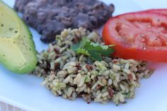 Cilantro Rice and Refried Beans
