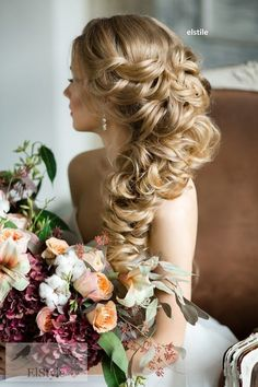 half-up-half-down-braided-wedding-hairstyle.jpg (600×901)