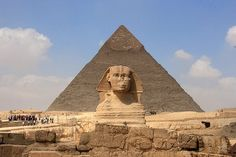 The Great Sphinx with Khafre's Pyramid