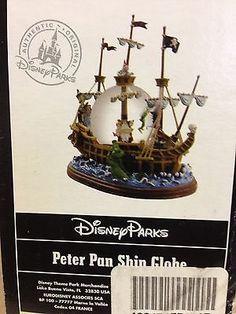 Disney Parks Peter Pan Pirate Ship Snow Globe-NIB, Never Opened