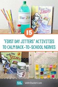 15 First Day Jitters Activities to Calm Back-to-School Nerves. The first day of school can make anyone nervous. Use these fun and free First Day Jitters activities along with the book to make a great first day for all! First Week Of School Ideas, Beginning Of The School Year, New School Year, I School, School Stuff, Middle School, First Grade Classroom, School Classroom, Classroom Activities