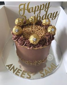 Fererro Rocher Cake, Torta Ferrero Rocher, Pretty Cakes, Beautiful Cakes, Amazing Cakes, Birthday Cakes For Men, Cakes For Women, Mousse Cake, Cake Decorating Tips