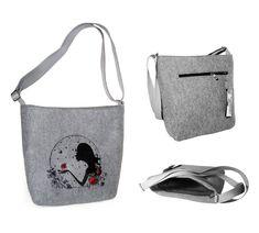 Dámské filcové kabelky jsou navrženy Petrem Markem.  Designy MarkModern jsou originální v kvalitě ušití a designu.  Kabelky jsou podšité a mají uvnitř praktické kapsičky.  Dámské kabelky přes rameno určitě potěší každou ženu, která má ráda originální  věc.  Tato kabelka byla vyrobena pouze v 10 ks. Reusable Tote Bags, Bullet Journal, Hacks, Design, Tips