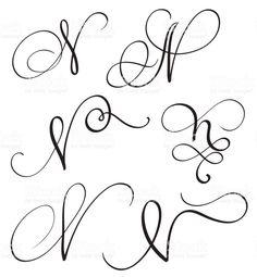 Image result for n flourish font