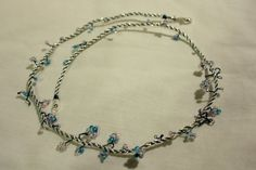 """Winter Twist"" #unique #gift 18inch Sterling Silver #Necklace by @blueriderartsUK http://etsy.me/1wGhIck"