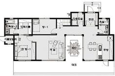 방갈리 주택 - Daum 부동산 인테리어 Interior Sketch, Interior Design, Unit Plan, Home Office Organization, House Floor Plans, Nice View, Tiny House, Small Spaces, House Design