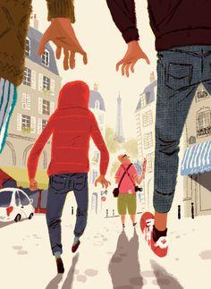 Artist Leo Espinosa at Illustration Division