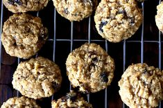 thick, chewy oatmeal raisin cookies.  One of the BEST cookie recipes I've ever tried