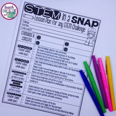 FREE STEM Challenge Lesson Plan! Guides you through ANY Elementary STEM Challenge from start to finish!