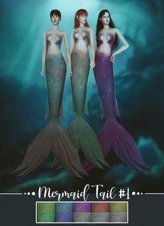 MermaI'd mod for moi game. Mermaid Skin, Mermaid Top, Mermaid Tails, Tattoo Mermaid, Vintage Mermaid, The Sims 4 Pc, Sims 4 Cas, Sims Cc, Sims 4 Game Mods