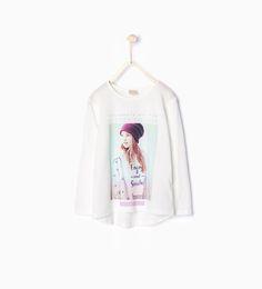 Imagen 1 de Camiseta estampado de Zara