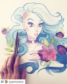 Watercolor by @graphicartery