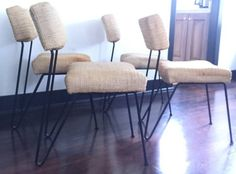 Four rare mid century Dorothy Schindele chairs that have been stored in a garage for the last 30 years. $1500