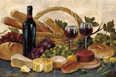 Tuscan Evening Wine Crop Prints by Silvia Vassileva at AllPosters.com