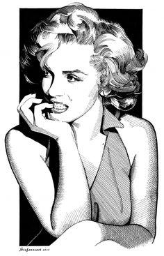Marilyn Monroe by Stefanosart