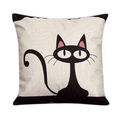 Zoe Cat Pillow Case Cushion Cover, , danskii
