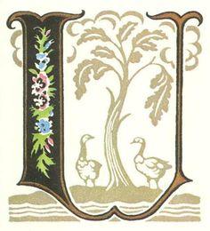 グリム童話:ガチョウ番の女 装飾文字 Grimm's Fairy Tales:Goose Girl / Letters
