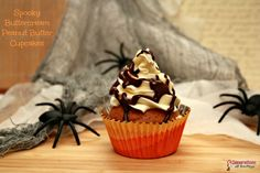 Pin this Spooky Peanut Butter Cupcake Recipe using Pin It button or by clicking the link and pining from the webpage.