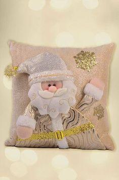 Santini Navidad   Forever Gold Christmas Cushion Covers, Christmas Cushions, Christmas Pillow, Pink Christmas, Christmas Placemats, Christmas Applique, Christmas Decorations, Christmas Wreaths, Christmas Ornaments