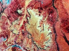 An image from NASA showing Marree Man from space. Picture: Australian Centre for Remote Sensing