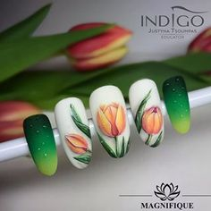 Make an original manicure for Valentine's Day - My Nails Spring Nail Art, Nail Designs Spring, Spring Nails, Summer Nails, Nail Art Designs, Daisy Nail Art, Daisy Nails, Flower Nails, Cute Nails
