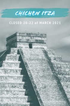 When considering a visit to Chichen Itza, or making reservations we kindly remind you that Chichen Itza will be closed from 20-22 of March during the Equinox 2021. For the official opening hours of Chichen Itza and more details read our blog post. [3 min read] #chichenitza #equinox #travelmexico #traveltips #yucatanmexico Archaeological Site, Equinox, Mexico Travel, Travel Tips, March, Blog, Travel Advice, Blogging, Travel Hacks