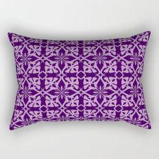 geometric ethnic pattern purple Rectangular Pillow