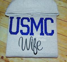 REPIN IF YOU LOVE A MARINE :)   USMC pullover usmc hoodie usmc Wife usmc by ForeverHisCouture
