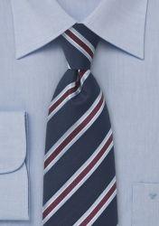 XXL-Herrenkrawatte Streifendessin nachtblau günstig kaufen