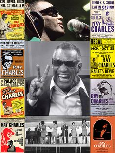 "Ray Charles Robinson (Sept. 23, 1930 – June 10, 2004), was a pioneer in the genre of soul music during the 1950s by fusing R & B, gospel, & blues styles into his early work with Atlantic Records. He helped racially integrate country & pop music during the 1960s with his crossover success on ABC Records. While at ABC, he became one of the first African-American musicians to be given artistic control by a mainstream record company. Frank Sinatra called him ""the only true genius in show…"