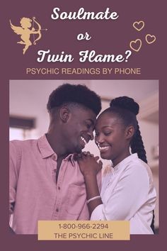 There are similarities between soul mates and twin flames. A soul mate has an energy that's highly similar to yours, but still distinct. The result is a complimentary bond, as your similarities and differences alike seem to simply fit with one another. A pair of twin flames serves to mirror each other. Even where they are different, their differences will be like the opposing sides of the yin-yang. 1-800-966-2294 The Psychic Line Psychic Hotline, Medium Readings, Tarot Meanings, Psychics, Psychic Mediums, Twin Flames, Psychic Readings, Love And Light, Self Improvement