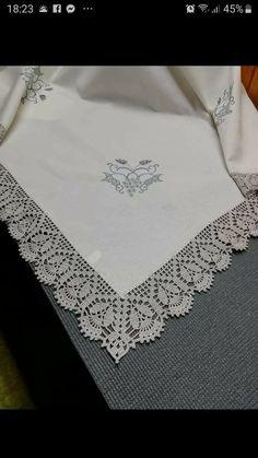 Crochet Bedspread Pattern, Crochet Blanket Edging, Free Crochet Doily Patterns, Crochet Lace Edging, Filet Crochet, Diy Crochet, Crochet Stitches, Crochet Hats, Lace Doilies