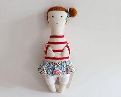 NEW COLECTION  Fabric doll   Olívia por matildebeldroega en Etsy