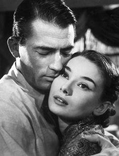 Gregory Peck (Joe Bradley) Audrey Hepburn (Princess Ann) - Roman Holiday directed by William Wyler (1953)