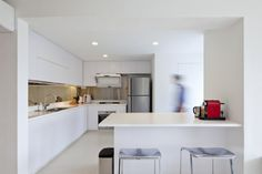 Project - Maisonette Apartment in Queenstown - Architizer. Atelier M+A. Featured in Dwell Asia. Home Decor Kitchen, Home Kitchens, Kitchen Dining, Kitchen Designs, Kitchen Ideas, Home Reno, Dining Area, Sweet Home, Chongqing