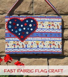 An easy patriotic craft: Make an America-The-Beautiful Flag