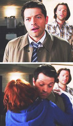 It's taken 3 years but Cas and Charlie finally met! 10x18 Book Of The Damned #SPN #Castiel #CharlieBradbury