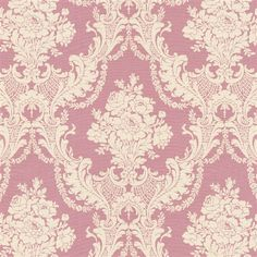Rose Pink Damask Fabric by the Yard | Carousel Designs