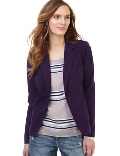 One-Button Blazer in purple - The Limited