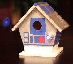 Star Wars - R2 D2 BIRDHOUSE! There's also a C3PO one. :)