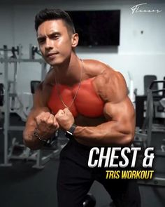 Chest Workout For Men, Chest Workout Routine, Abs Workout Routines, Chest Workouts, Chest Mass Workout, Chest Exercises, Neck Exercises, Shoulder Exercises, Gym Workout Videos