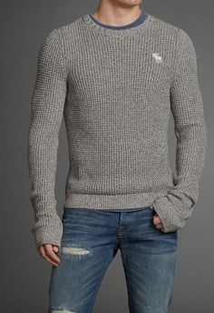 Henderson Lake Sweater. Neutrals and blues are always a safe bet together