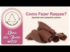 (10) Dica da Jana #059 Raspas de Chocolate Simples de Fazer Por Janaina Suconic - YouTube