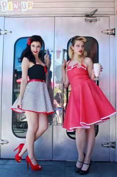 Retro pin up girls